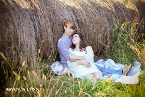 Engagement photography session in Watkinsville GA at cotton farm