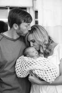 Family mom dad and newborn baby in home session Athens, GA Winder, GA