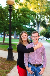 Couple are students at UGA and chose North Campus of UGA for photography session by Amanda Lynn Photography